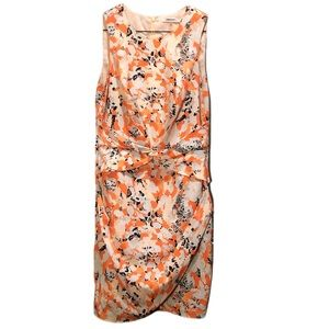 DKNYC ORANGE FLOWER DRESS SIZE 6